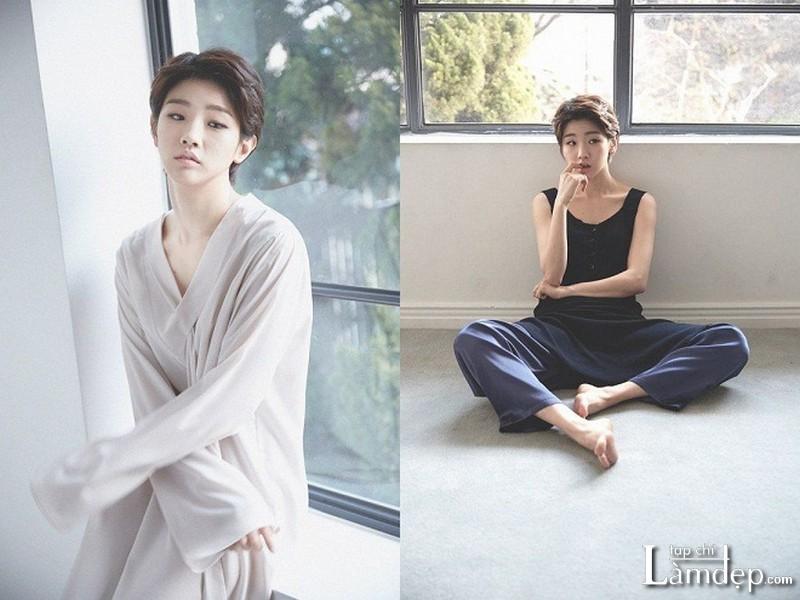 Tóc ngắn tomboy Hàn Quốc phong cách nữ tính Park So Dam