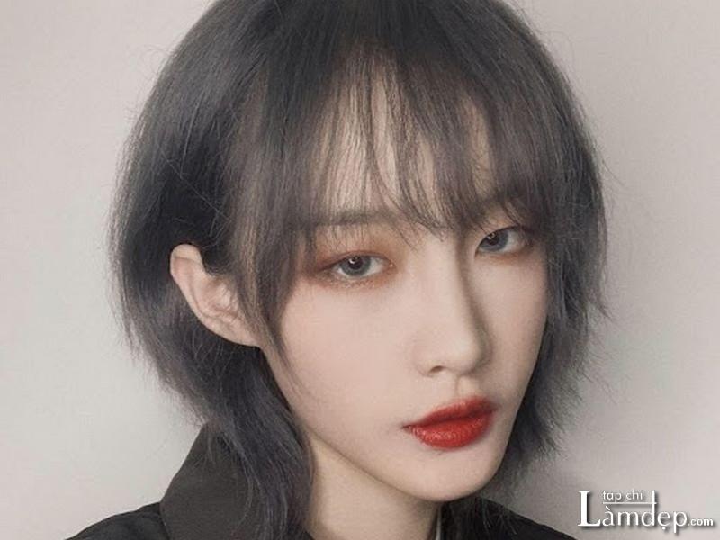 Kiểu tóc Mullet Layer ngắn mái dài cho nữ
