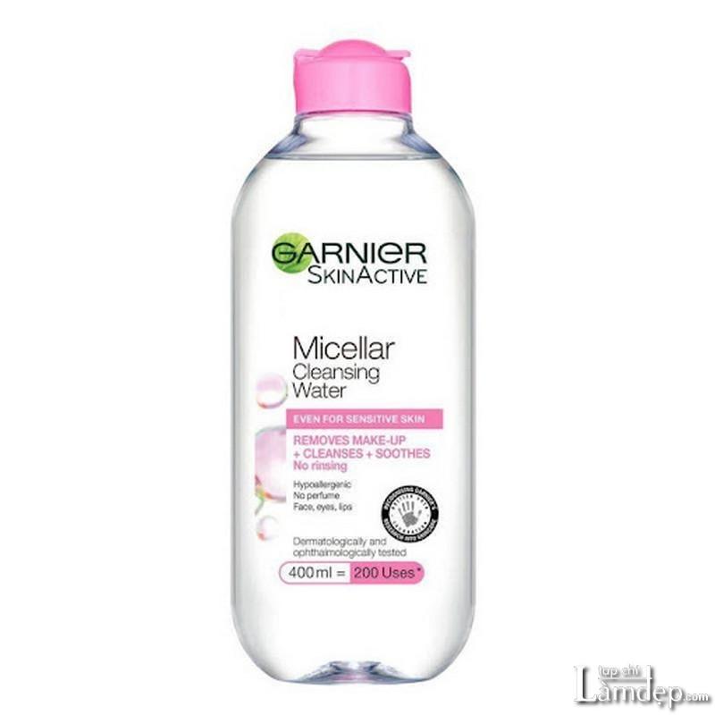 Nước tẩy trang Garnier cho da nhạy cảm