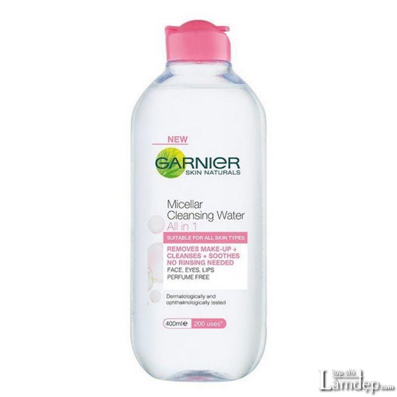 Nước tẩy trang không cồn Garnier Micellar Cleansing Water Skin