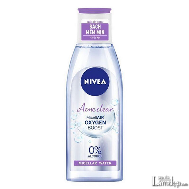 Nước tẩy trang không cồn Nivea Acne Care Makeup Clear Micellar Water