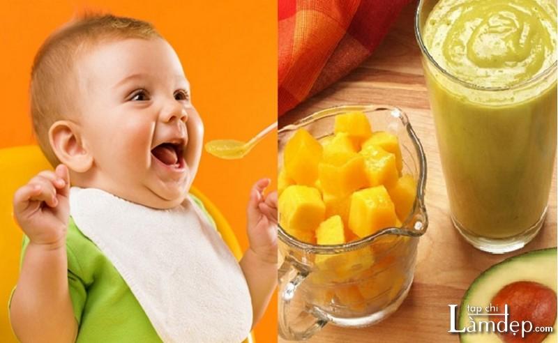 Tác dụng của sinh tố xoài với trẻ em