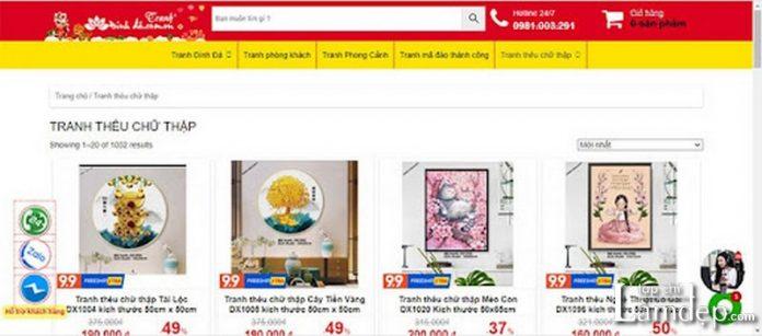 Shop tranhdinhda.com.vn