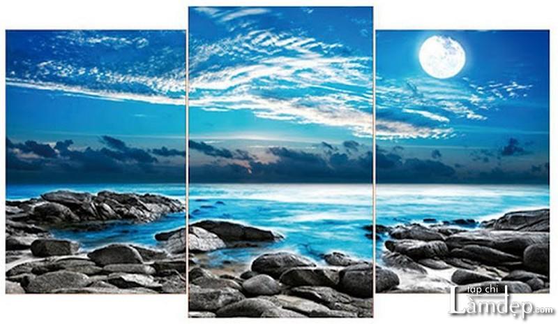 Tranh đính đá 5D phong cảnh biển