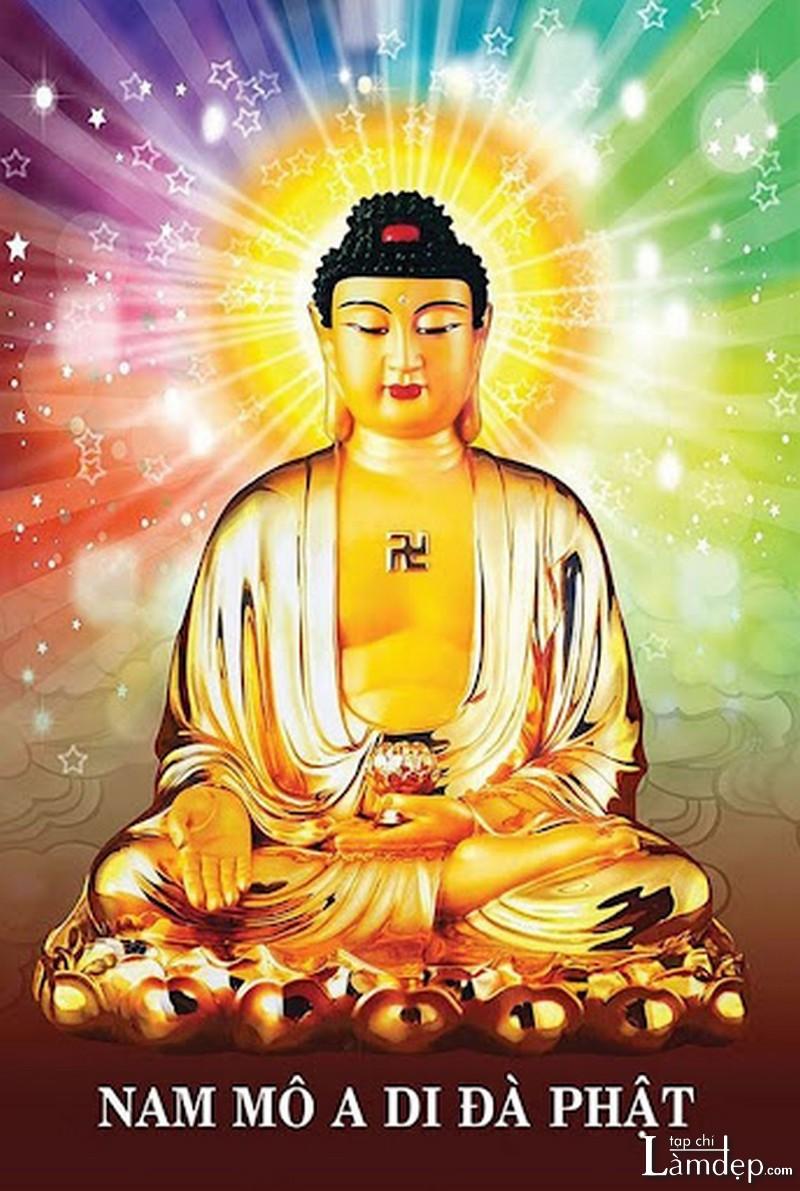 Tranh đính đá Phật A Di Đà