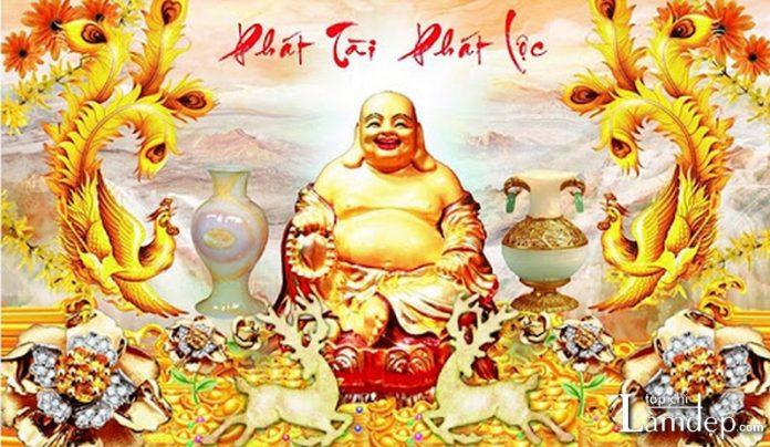Tranh đính đá Phật Di Lặc