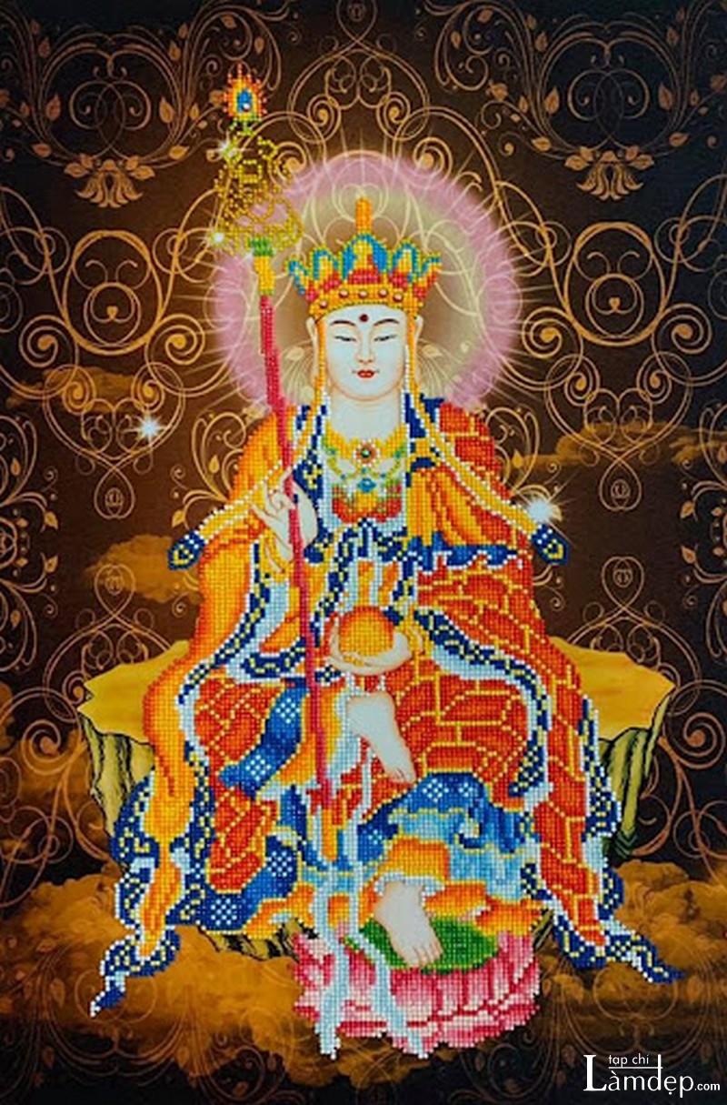Tranh đính đá Phật Địa Tạng Vương Bồ Tát