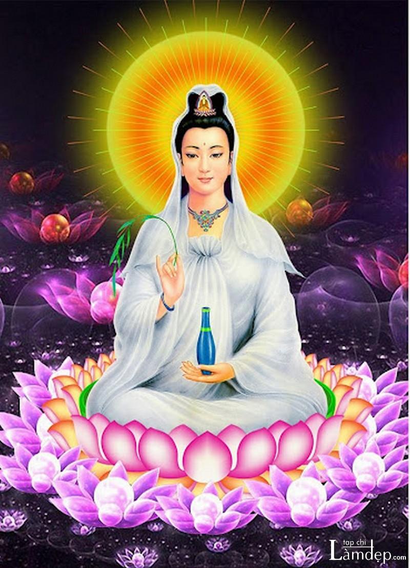 Tranh đính đá Phật Quan Âm