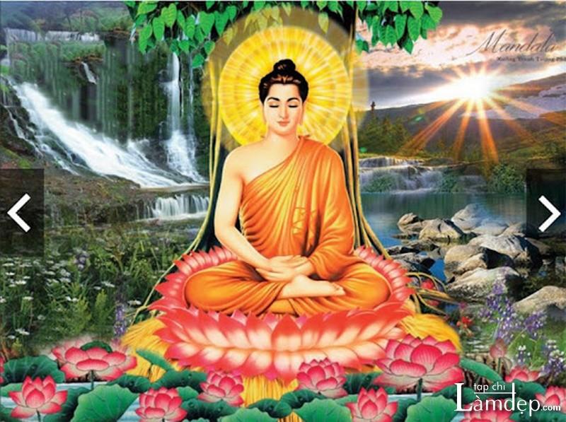 Tranh đính đá Phật Thích Ca Mâu Ni - Phật Như Lai