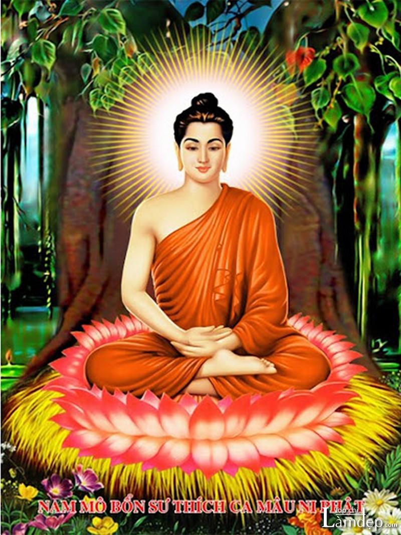 Tranh đính đá Phật Thích Ca