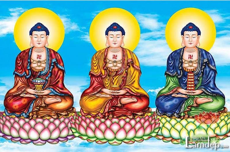 Tranh đính đá Tam Thế Phật